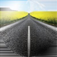 Road ahead - badge format